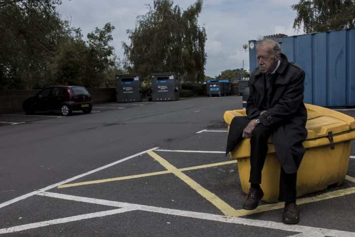 'Sitting Man.' by Casper Macindoe  Shot in Shrewsbury, Shropshire, UK.  May 2014