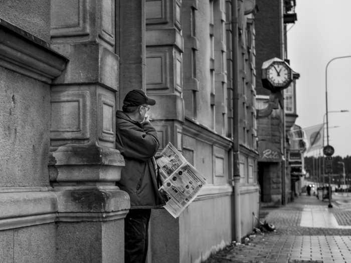 Ending Lunchtime by Dan Berntsson. Vanersborg, Sweden, January 2014