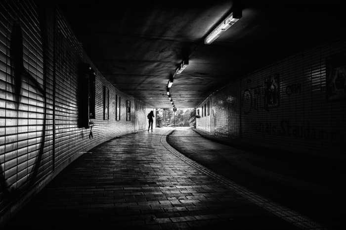 The end of the tunnel by Theodoros Topalis. Osterdeich in Bremen, 17.09.14