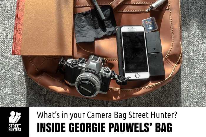 Inside Georgie Jerzyna Pauwels' Camera Bag