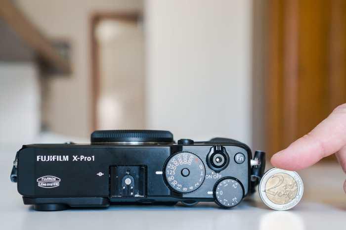 Fujifilm X-Pro1 top view