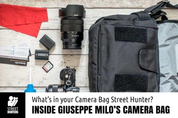 Inside the Camera Bag of Giuseppe Milo