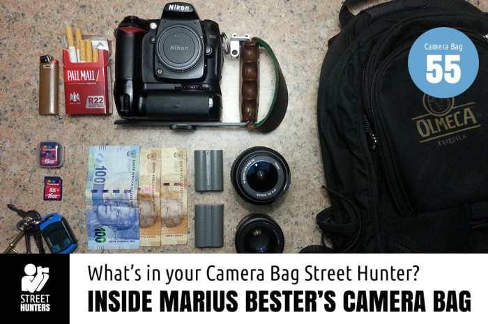 Inside Marius Bester's Camera Bag