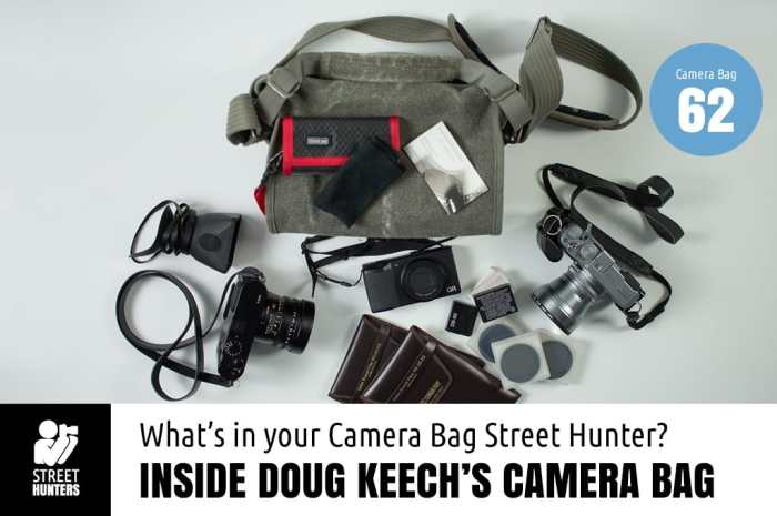 Inside Doug Keech's Camera Bag