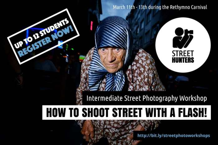 Intermediate Flash Street Photography Workshop by Spyros Papaspyropoulos & Digby Fullam
