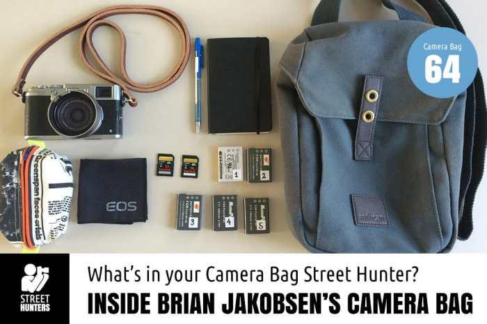 Inside Brian Jakobsen's bag