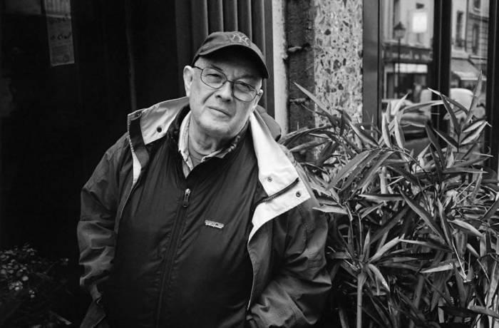 Photo of Bruce Davidson shot by Martine Frank in Paris, France