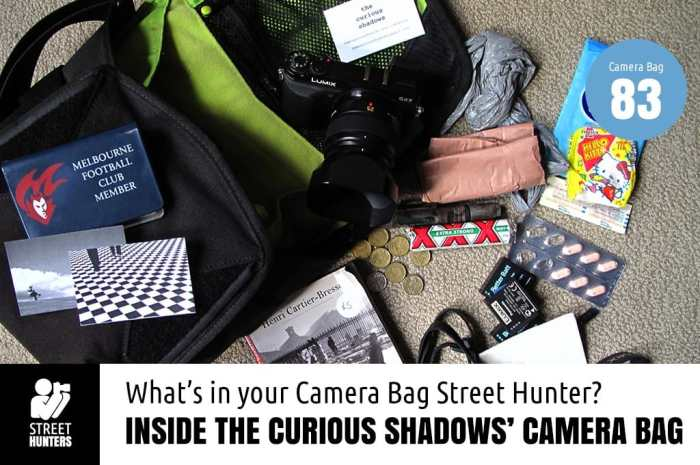 The Curious Shadows' Camera Bag