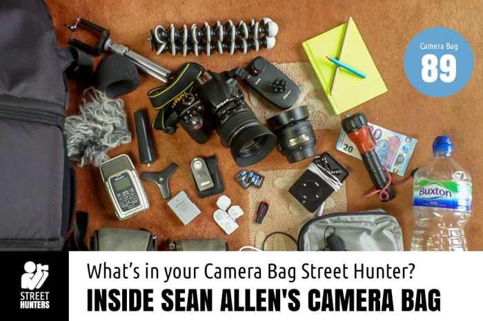 Inside Sean Allen's Camera Bag