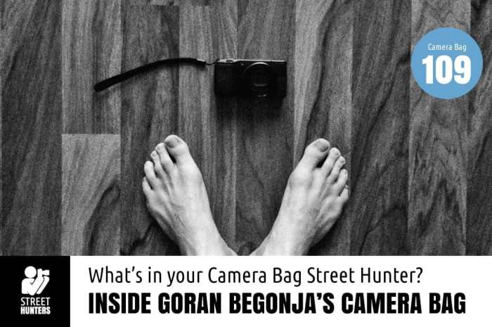 Inside Goran Begonja's Camera Bag