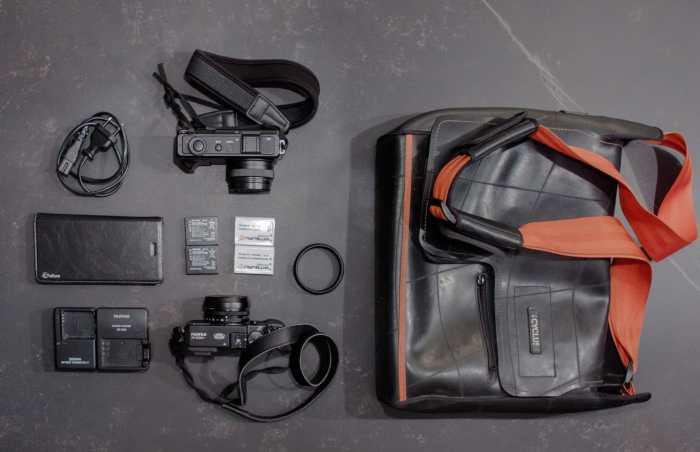 Tristan Cocrelle's camera bag