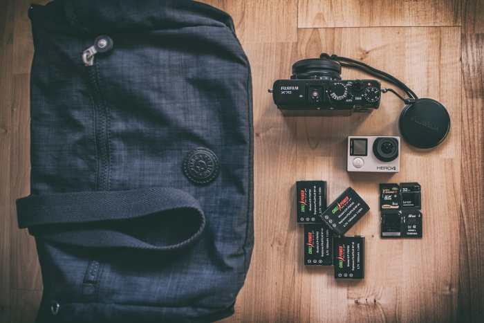 Adriano Cascio's camera bag