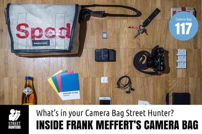 Inside Frank Meffert's camera bag