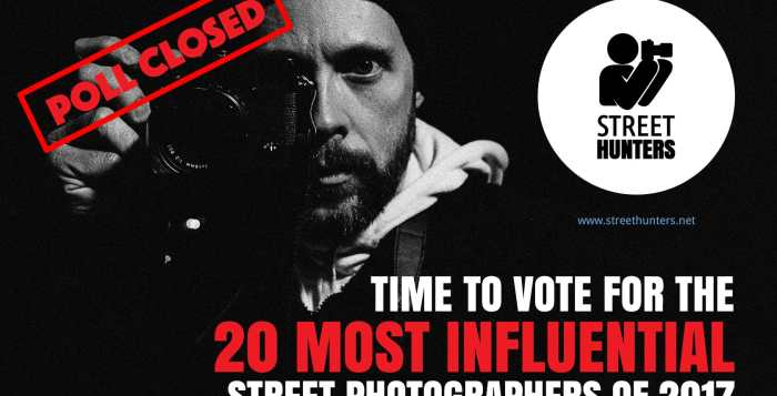 The poll for the most influential street photographers of 2017 is now closed