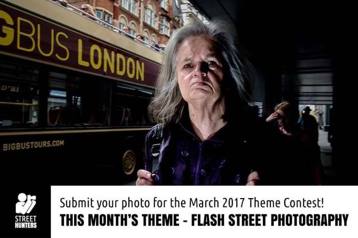March 2017 street photography contest - Flash Street Photography