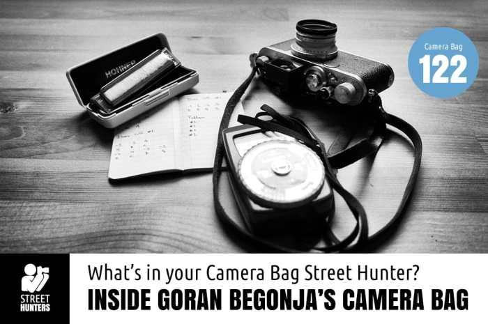 Goran Begonja's camera bag