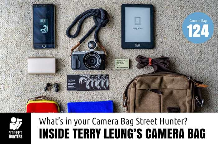 Inside Terry Leung's Camera Bag