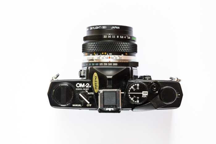 Film Street Photography Olympus OM-2n top