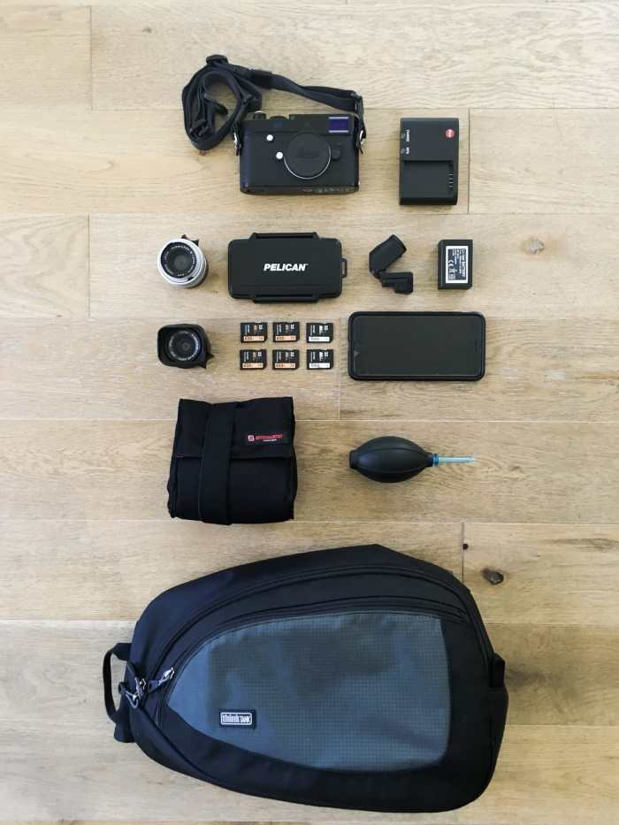 Daniel Huete's camera bag
