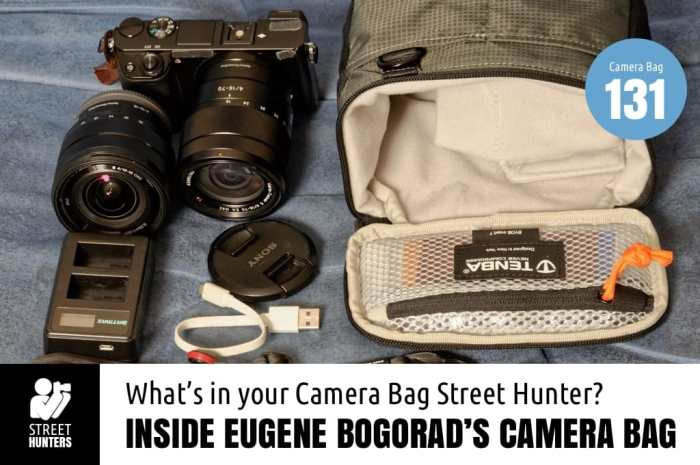 Inside Eugene Bogorad's camera bag