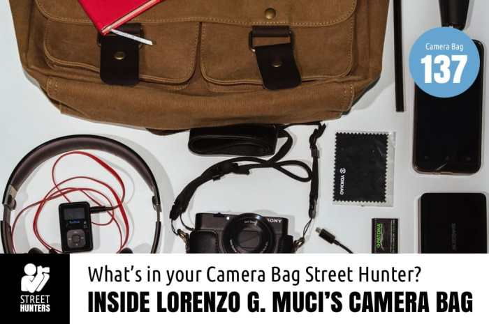 Inside Lorenzo G. Muci's Camera Bag