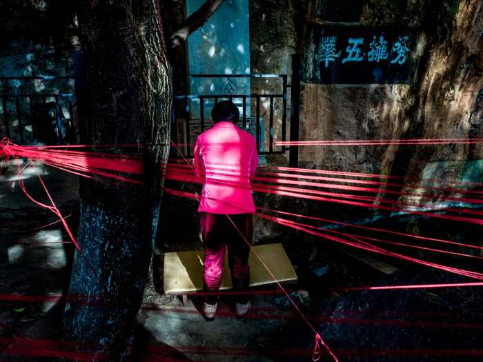 """The Colour Pink"" street photograph by Tzen Xing"