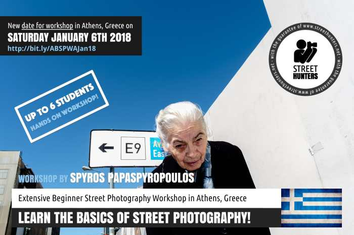 Beginner Street Photography Workshop 6th January