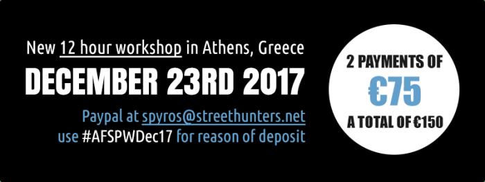 Flash Street Photography Workshop 23rd December 2017