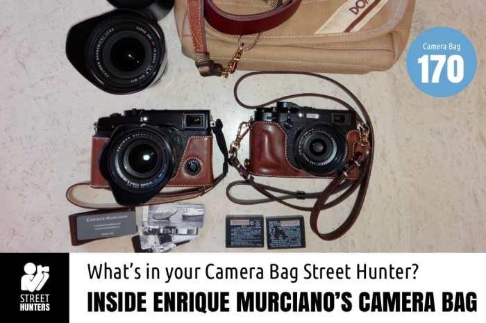 Inside Enrique Murciano's Camera Bag - Bag No. 170