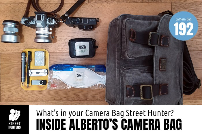 Inside Alberto's Camera Bag - Bag No.192