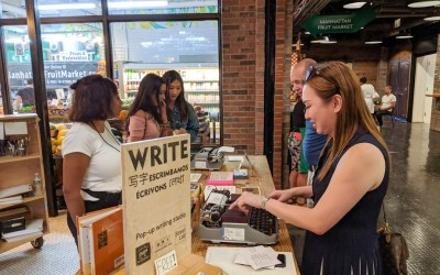 WRITE wraps up a month-long residency at Chelsea Market