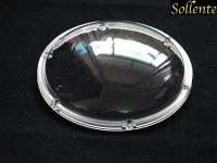 180mm Transparent LED Lens Cover , Round Outdoor Light Covers