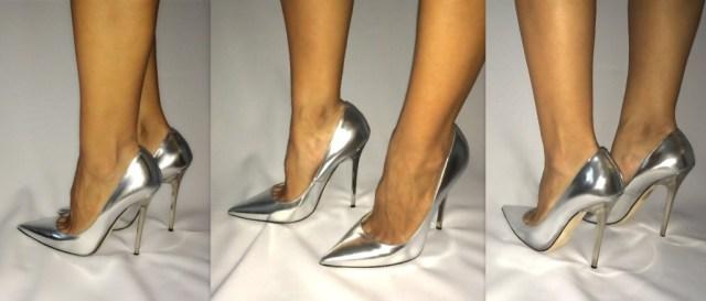 Silver Jimmy Choo Anok heels