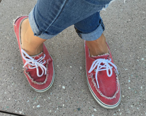 red vans boat shoes zapato del barco