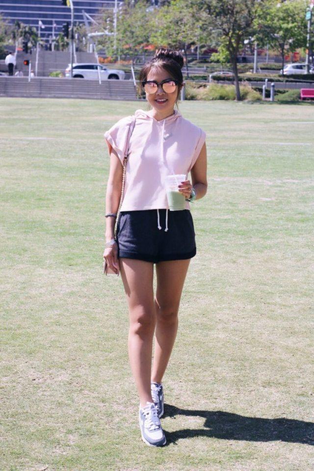 girl in grand park