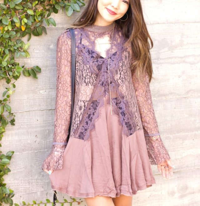 Free People style boho lace dress r.vivimons