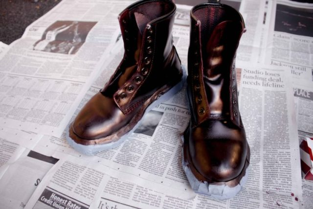 how to dye leather boots angelus oxblood dye