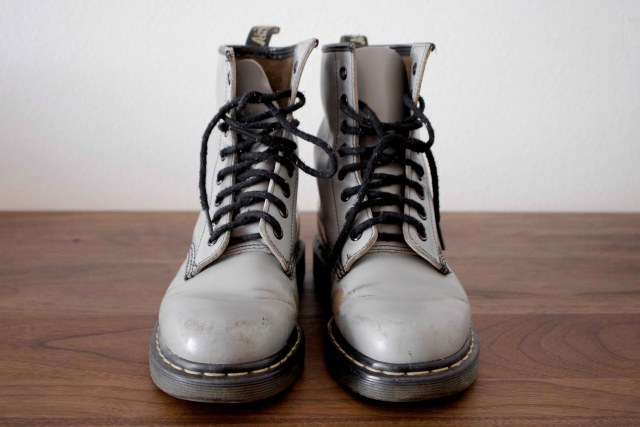 gray dr martens boots