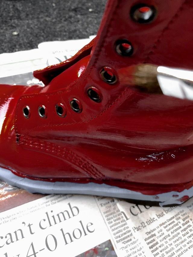 angelus acrylic leather paint autumn red