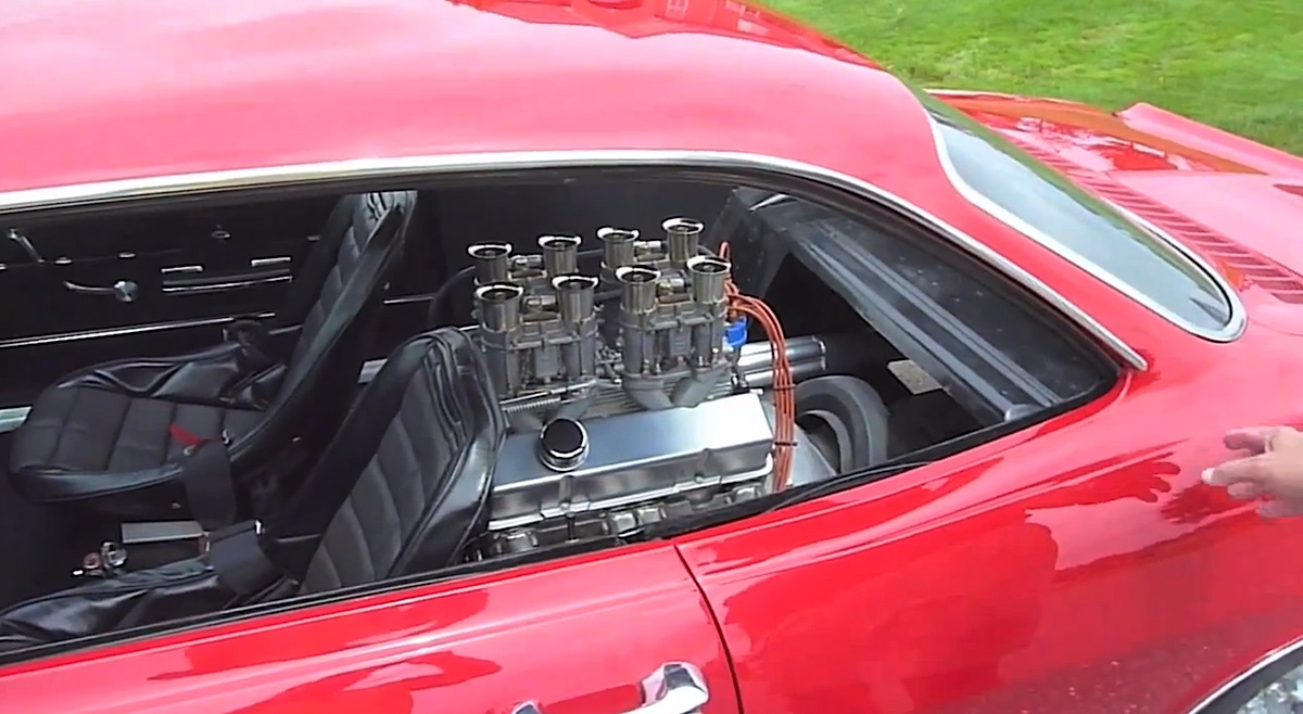 hight resolution of video owner replaces corvair rear seat with 283ci small block
