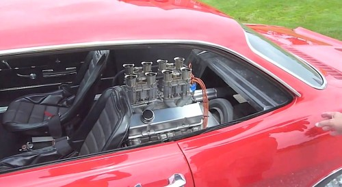 small resolution of video owner replaces corvair rear seat with 283ci small block