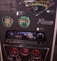 sema 2018 dakota digital creates retro looking modern gauges [ 1800 x 2700 Pixel ]