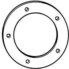 Gas filler flange gasket for 1964-71 Mustang