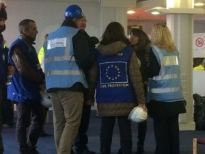 Visitors &observers came from EU