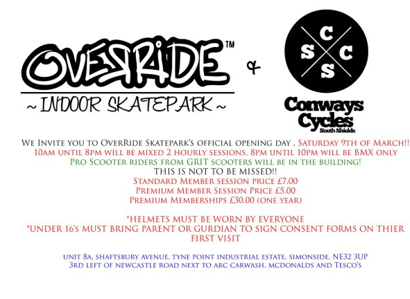 Override Skatepark Opening | 9th March 2013