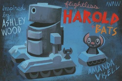 Flightless Harold and Bats resin set