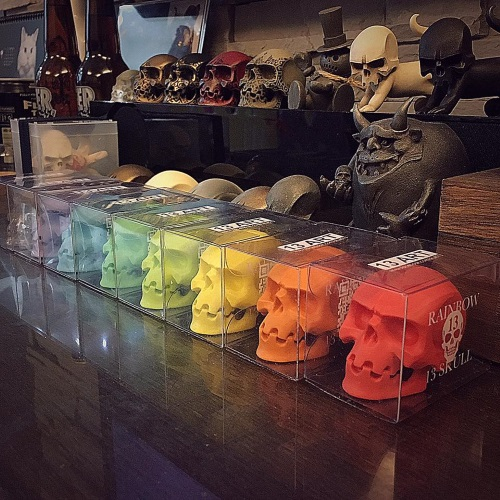 13art rainbow skull figure