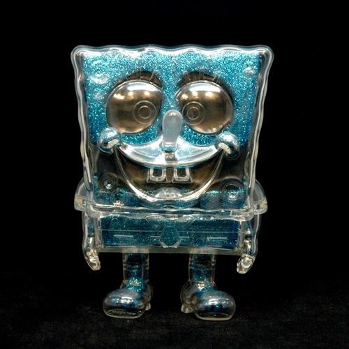 Blue Glitter SpongeBob DX sofubi