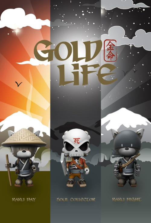 Huck-Gee-Mighty-Jaxx-Gold-Life-Raku-Day-Night-Soul-Collector