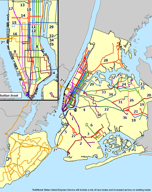 Express Bus Nyc Map.Details Of Proposed Bus Service Expansion Streetsblog New York City